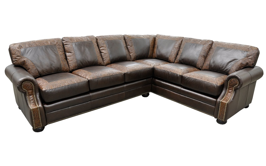 Leather Sectional Sofas Bennett Leather Sectional