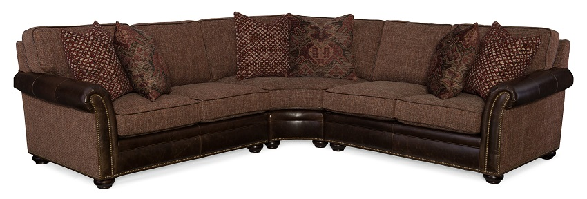 Bradington Young Sectionals With Fabric Leather