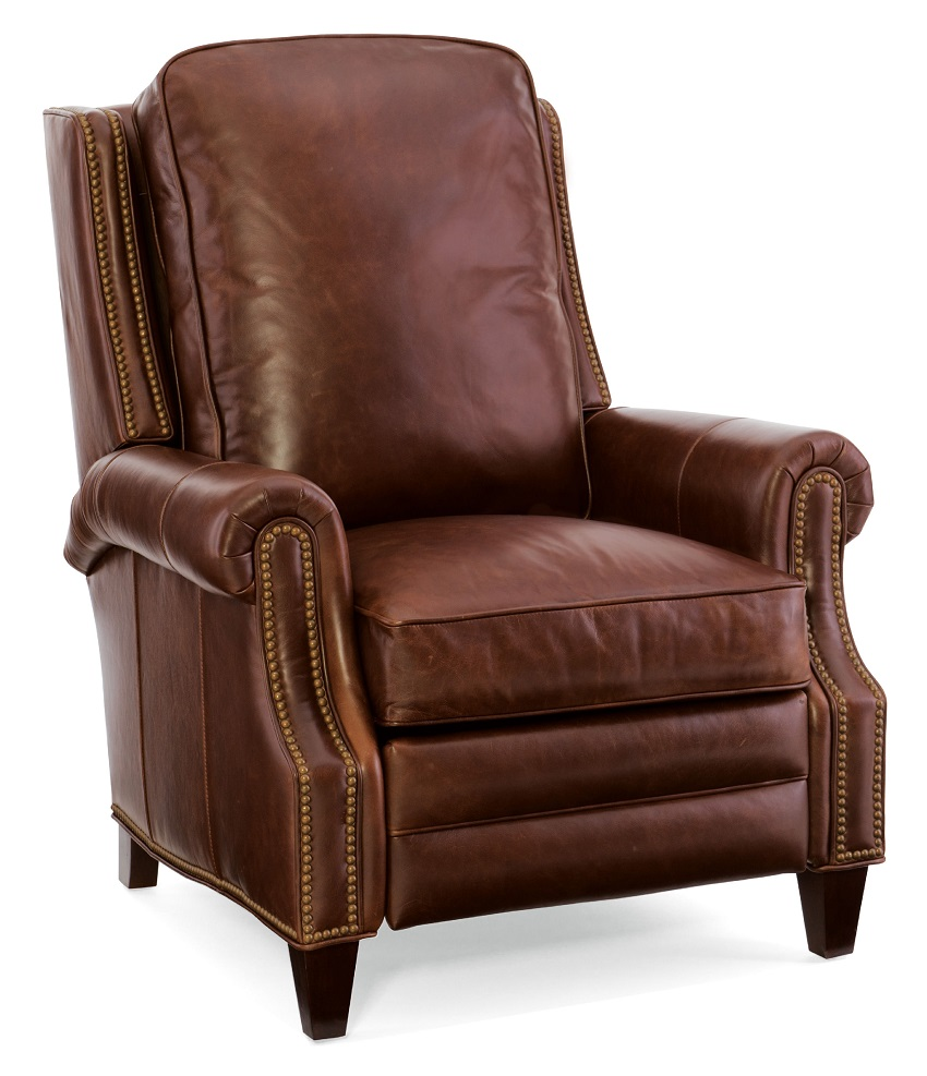 Aaron Leather Recliner By Bradington Young
