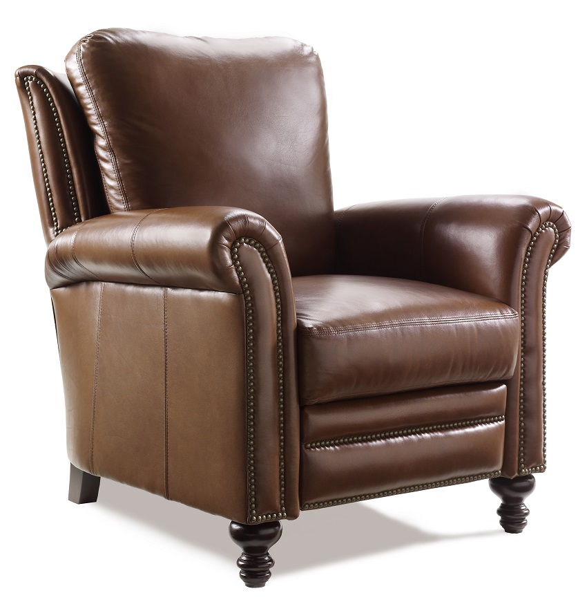 Best Leather Reclining Sofa Brands: Richardson Leather Recliner By Bradington Young Furniture