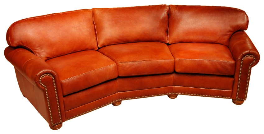 Conversation sofas dominion leather conversation sofa for Conversation sofa