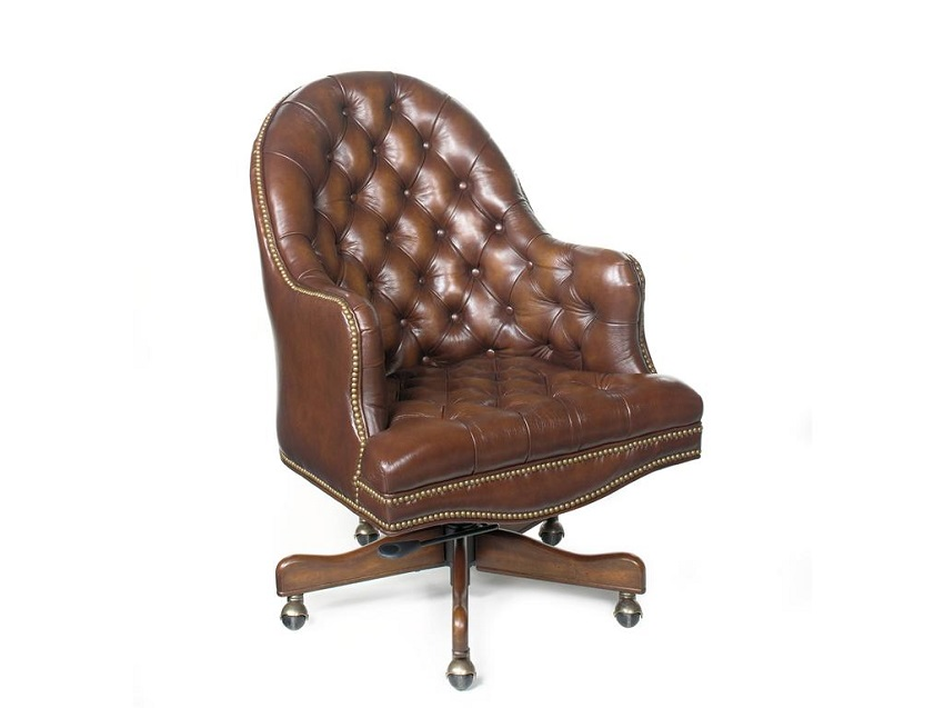 Prairie Meadow Leather Desk Chair