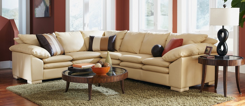 Leather Sectional Sofas Fargo Leather Sectional