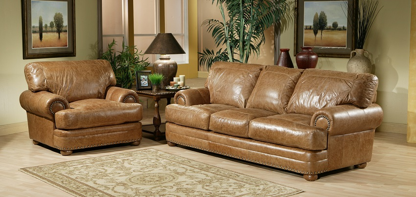 Houston Leather Sofa. Enlarge Images