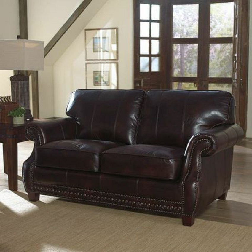 Anna Leather Loveseat