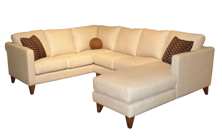 Leather Sectional Sofas : Madison Leather Sectional