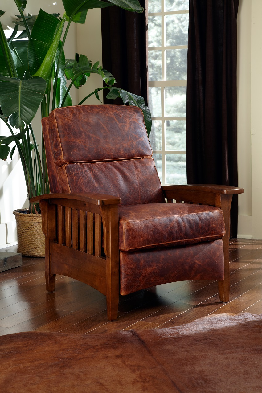 Leather Recliners Mission Leather Recliner