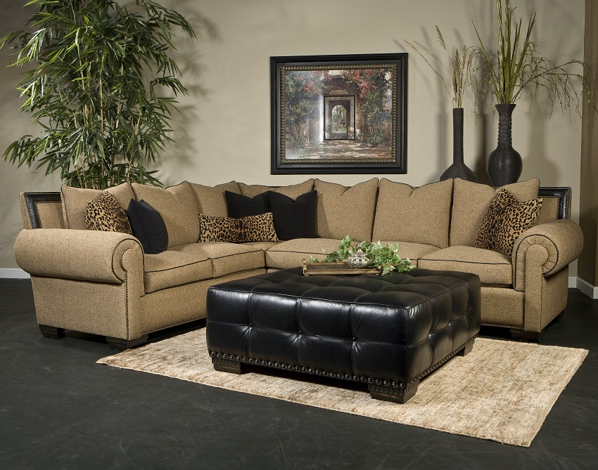 Marco Leather/Fabric Sectional : marco sectional - Sectionals, Sofas & Couches