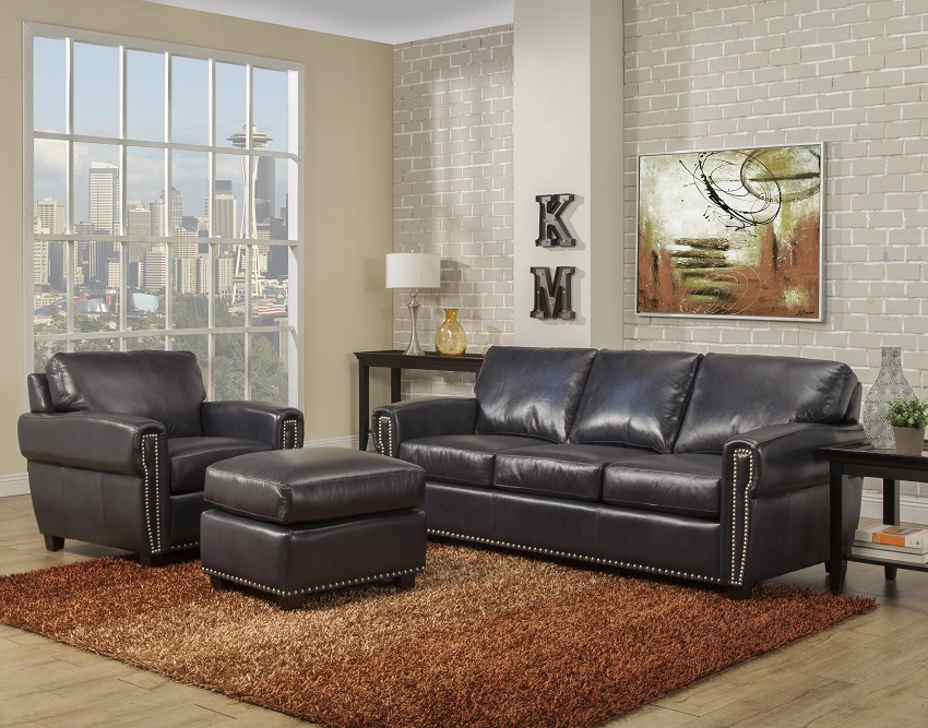 Jensen Leather Queen Size Sofa Sleeper