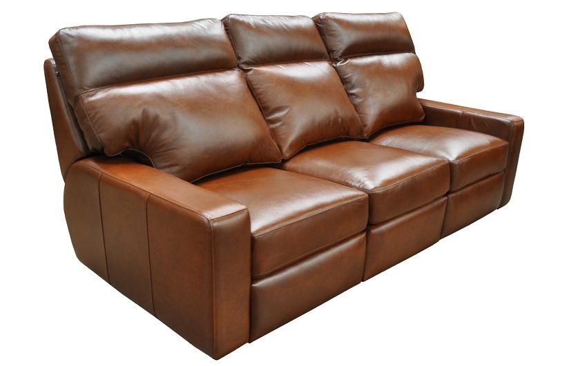 Lennox Leather Reclining Sofa By Omnia
