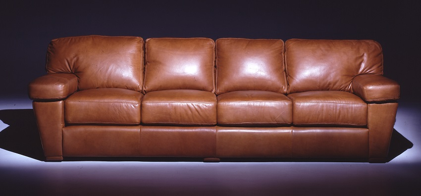 Leather sofas prescott leather four cushion sofa for Cushions for leather sofas