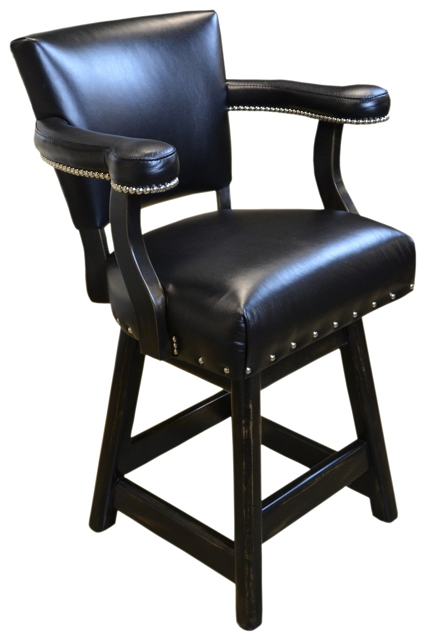 Leather Bar Stools Ranch Leather Bar Stool