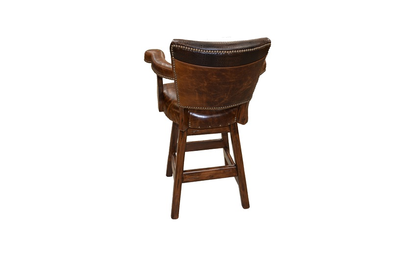 Leather Bar Stools Rango Leather Bar Stool : rango bar stool back from fineleatherfurniture.com size 850 x 531 jpeg 49kB