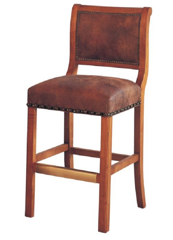 Beckel Leather Armless Bar Stool