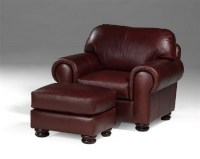 Regis Leather Chair & Ottoman
