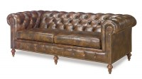 Baton Rouge Leather Short Sofa