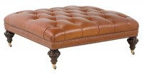 Sussex Leather Cocktail Ottoman