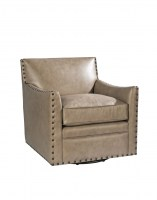 Castiel Leather Swivel Chair