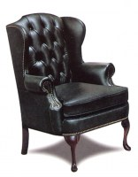 Henry Leather Wing Chair