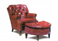 Archer Leather Chair & Ottoman