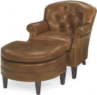 Saddle Leather Chair & Ottoman