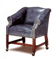 Highlands Leather Chair With Casters
