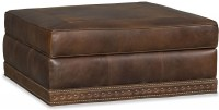 Grace Leather Storage Ottoman