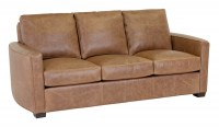Forks Leather Short Sofa