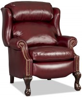 Maxwell Ball & Claw Leather Recliner