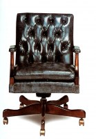 Holstein Leather Desk Chair