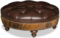 Blake Leather Cocktail Ottoman