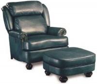 Bradley Tilt Back Leather Chair U0026 Ottoman