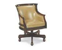 Voss Leather Swivel Chair