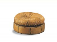 Puff Seat Leather Ottoman