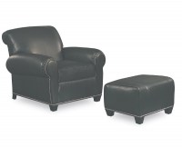 Havanna Leather Chair & Ottoman