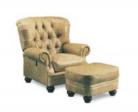 Sigmund Leather Tilt Back Chair U0026 Ottoman