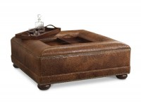 Leesburg Leather Cocktail Ottoman