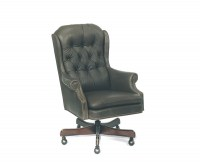Leathercraft Leather Swivel Tilt Chair-Loose Cushion