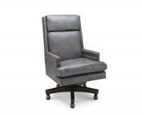 Stetson Leather Desk Chair (Swivel Tilt)