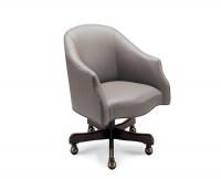 Coral Leather Desk Chair