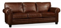 Hillsboro Leather Sofa In Chaps Brown