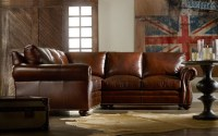 Sterling Leather Sectional