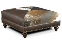 Juno Leather Cocktail Ottoman