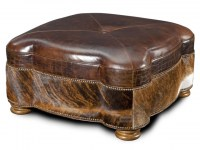 Capri Leather Cocktail Ottoman