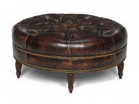 Kearney Decorative Leather Ottoman