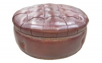 Armstrong Leather Cocktail Ottoman