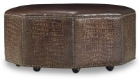 Octavius Leather Cocktail Ottoman