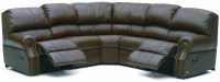 Charleston Leather Reclining Sectional