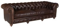 Bozeman Leather Chesterfield Sofa