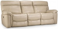 Taupe Leather Motion Sofa